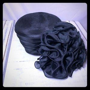 Sonni San Francisco Vintage Black Ruffled Hat
